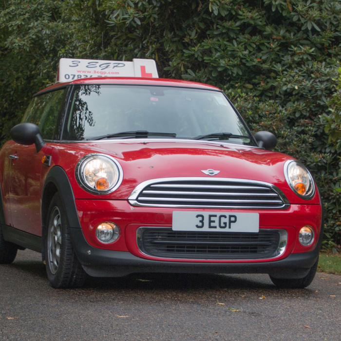Red Mini driving school